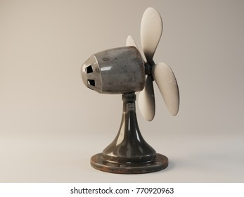 Visualization of the metal fan 3D illustration