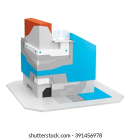 Visualization of a scheme of thermal insulation system in the plinth area of a house