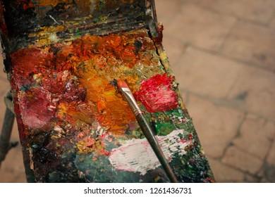 vitage artist easel