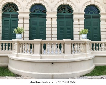 The vitage terrace of the door of the palace