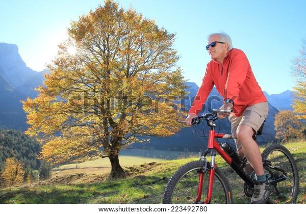A Vital Senior Mountain biking