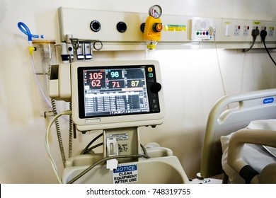Vital Signs Monitor Healthcare and Medical Equipment at The Hospital.