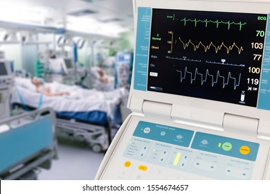 Vital Signs Monitor for Intra-Aortic Balloon Counterpulsation in ICU with patients on background