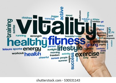 Vitality word cloud concept