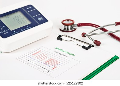 Vital signs images stock photos vectors shutterstock vitals sign chart medical graphs and measuring blood pressure with red stethoscope on white background ccuart Choice Image