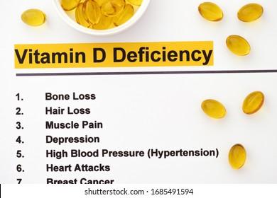 Vitamin D Deficiency. Close up.