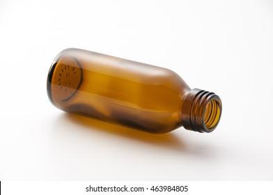 vitamin drink, white background, drink empty bottle