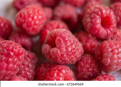 Vitamins. Summer berries. Raspberries background. Close up, top view, high resolution product. Harvest Concept