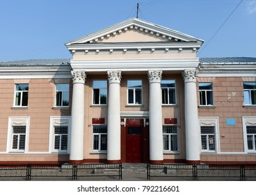 VITEBSK, BELARUS - AUGUST 11, 2015:Administrative building on Komsomolskaya Street in Vitebsk.