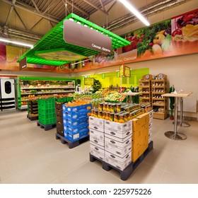 "VITEBSK, BELARUS - JULY 19: Shopping center ""Hanna"" on july 19, 2012 in Vitebsk, Belarus. ""Hanna"" is one of the largest Belarusian companies"