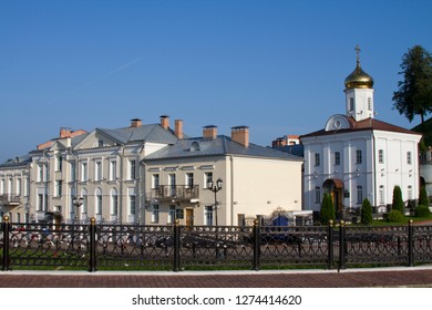 VITEBSK, BELARUS - JULY 27: Holy Assumption Cathedral of the Assumption and the Holy Spirit convent on July 27, 2016 in Vitebsk.