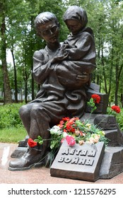 VITEBSK, BELARUS - JULY 8, 2016: Monument to children of war in Vitebsk