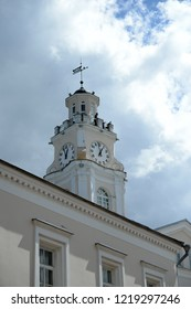 VITEBSK, BELARUS - JULY 8, 2016: The building of the city hall in the historical part of Vitebsk