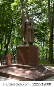 VITEBSK, BELARUS - JULY 8, 2016: Monument on the memorial alley - the burial of soldiers killed during the liberation of Vitebsk