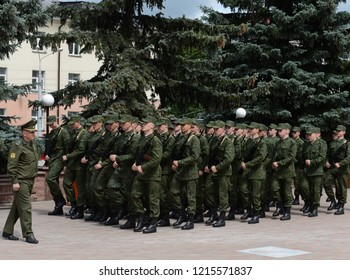 VITEBSK, BELARUS - JULY 8, 2016:Students of the Department of Military Training and Extreme Medicine of Vitebsk State Medical University