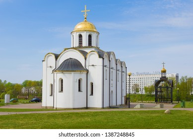 VITEBSK, BELARUS - MAY 02, 2019: Church of the Annunciation in the sunny May day. Vitebsk, Belarus