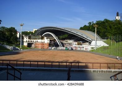 Vitebsk, Belarus - May 25, 2016:amphitheater. Vitebsk. Belarus.