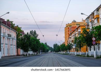 Vitebsk, Belarus - May, 26, 2019: street image in Vitebsk, Belarus