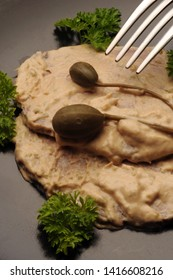 Vitello tonnato with capers and parsley