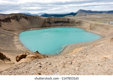 Viti, a large crater located near lake Myvatn in Northern Iceland