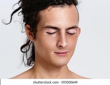 Vitiligo man portrait