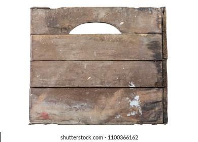 A vitnage wooden crate isolated on a white background.