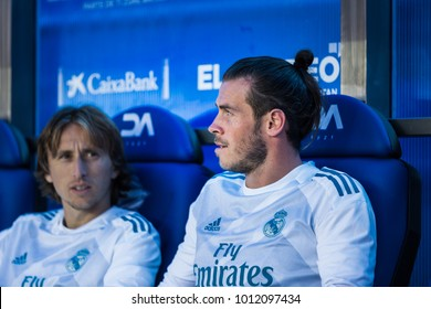 VITORIA, SPAIN - SEPTEMBER 23, 2017: Gareth Bale, Real Madrid player, in action during a Spanish League match between Alaves and Real Madrid