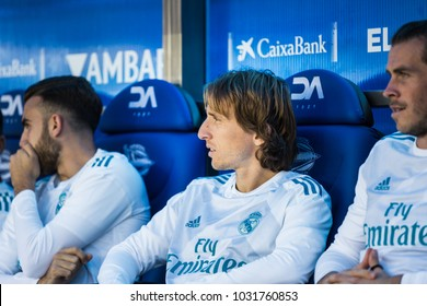 VITORIA, SPAIN - SEPTEMBER 23, 2017: Luka Modric, Real Madrid player, during a Spanish League match between Alaves and Real Madrid