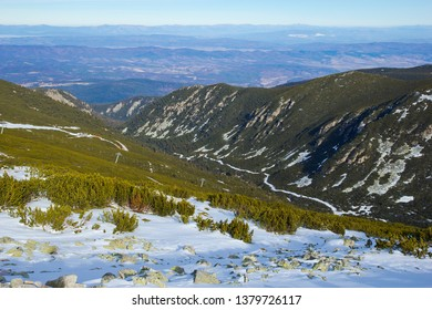 Vitosha mountain, view of the city of Sofia, Bulgaria