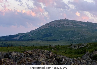 Vitosha national park at sunset, Bulgaria
