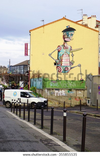Vitrysurseine France 24 Dec 2015 Street The Arts Stock Image 355855535