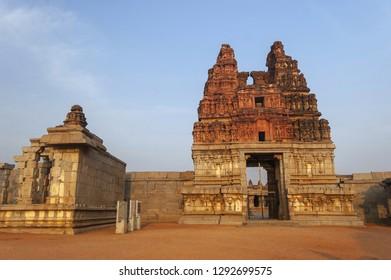 Vittala Temple entrance Gopuram at Hampi, Karnataka, India.