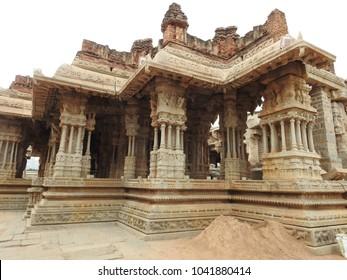 Vittala temple Mahamantapa in Hampi - a UNESCO World Heritage Site located in Karnataka, India.