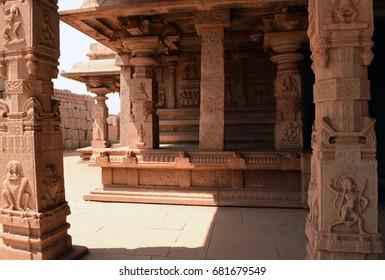 Vitthal temple sculpture at Hampi, Karnataka, India.