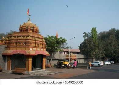Vitthalwadi, Hingne Khurd, Pune 18 March 2018. Beautiful old stone vitthal Temple situated at the banks of Mutha River. This temple also called as prati pandharpur.
