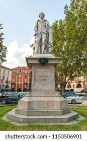 Vittorio Alfieri monument in piedmont