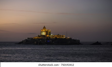 Vivekananda Rock Memorial   at Kanyakumari at early hours. Great scenic beauty, historical importance and religious significance. On this, a captivating memorial of Swami Vivekananda has been built.