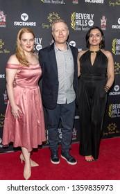 Vivian Kerr, Anthony Rapp, Sapna Gandhi attend 19th Annual Beverly Hills Film Festival, Hollywood, CA on April 3rd, 2019