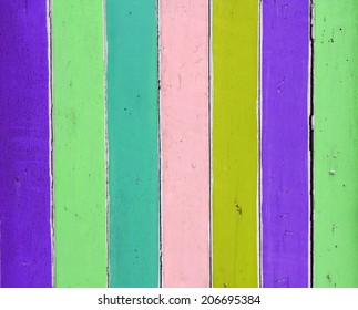 vivid background of colorful wooden planks