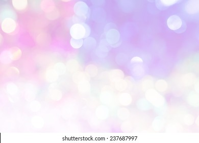 vivid bokeh in soft color style for background of Christmas light