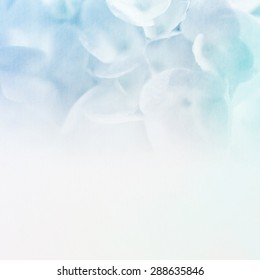 vivid color flowers in soft color and blur style on craft paper texture background