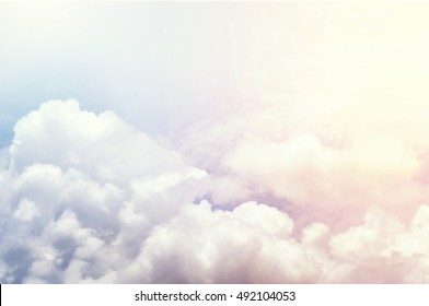 vivid colorful clouds , colorful sky