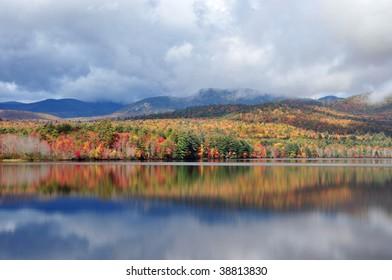 Vivid foliage at Lake Chocorua, New Hampshire