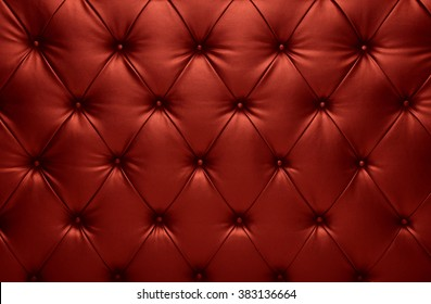 Vivid red capitone checkered soft fabric textile coach leather decoration with buttons