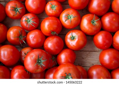 Vivid Red Fresh Tomatoes for Sale at Outdoor Farmers Market