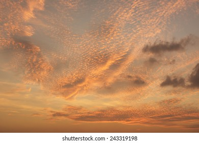 Vivid sky and twilight dramatic clouds background
