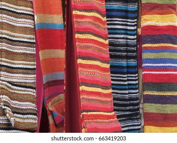 Vivid Striped Pattern Woven Material