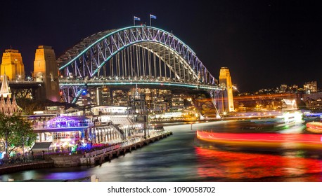 Vivid Sydney,Night in Sydney Bridge
