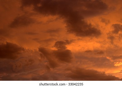 Vividly colored clouds