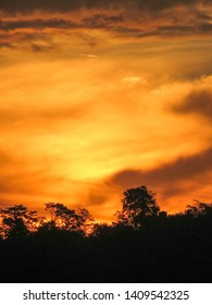 Viwe of An amazing sunset. Stunning sunset. Sunset with orange sky.
